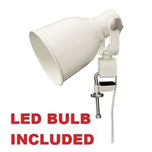 Amazon.com: Ikea Wall Clamp Lamp LED (Bulb Included) White ...