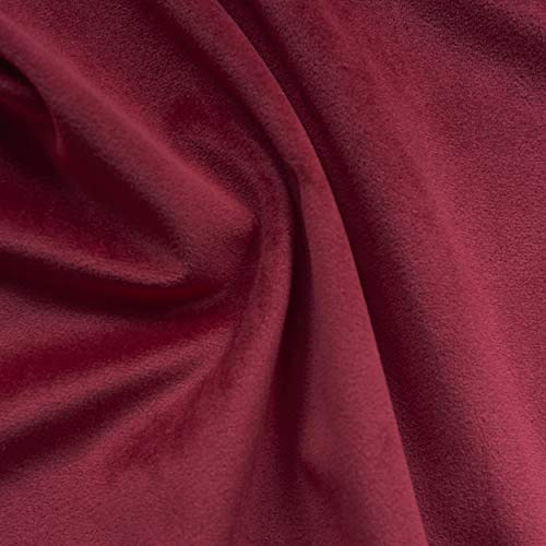 - Solid Drapery/Upholstery Soft Velvet Fabric Color Red by The Yard
