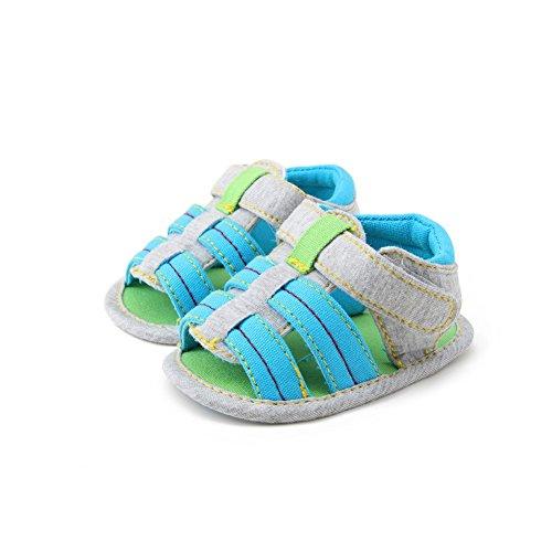 BOBORA Bebe Infantil Ninos Ninas Nina Suave Cuna Unico Nino Recien Nacido Sandalias Zapatos azul(A1)