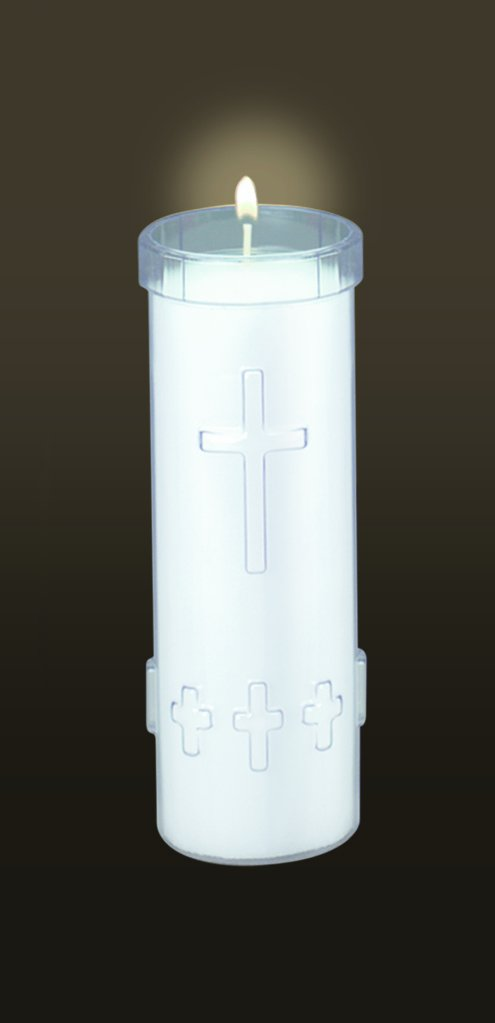 12-P Five Day Free Standing Devotional Candles (Clear)