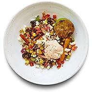 Amazon Meal Kits, Vegetarian Fajita Bowl with Corn, Pico de Gallo & Queso Fresco, Serves 2