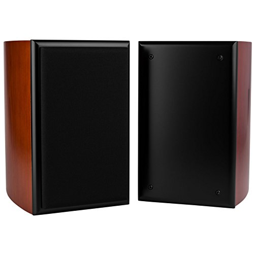 Dayton Audio TWC-0.25CH 0.25 cu. ft. 2-Way Curved Speaker Cabinet Pair Cherry by Dayton Audio