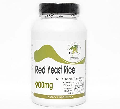 Red Yeast Rice 900mg ~ 180 Capsules - No Additives ~ Naturetition Supplements