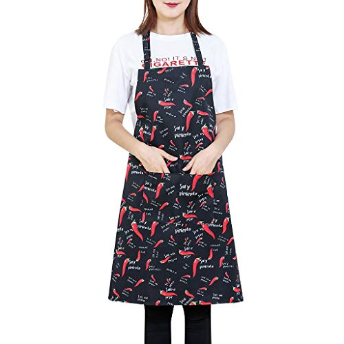 Ratoop Cooking Chef Kitchen Restaurant Bib Apron Dress with 2 Pockets Gift Unisex Red from Ms. Ratoop