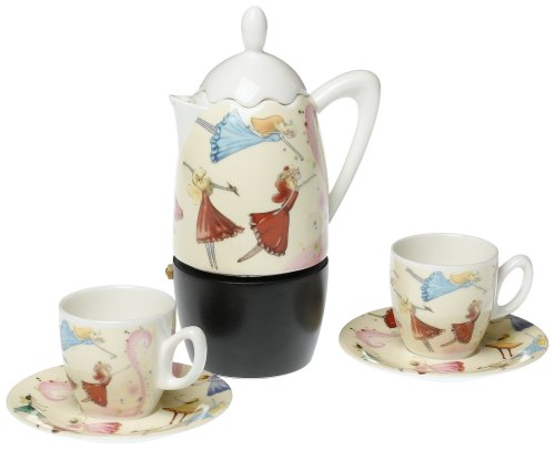 Stovetop Coffee Maker Gift : Yedi Houseware Classic Coffee and Tea Dancing Fairies Stovetop Express Coffee Maker Set, Gift ...