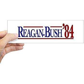 CafePress Reagan Bush /'84 Campaign Rectangle Car Window Decal Bumper Sticker New