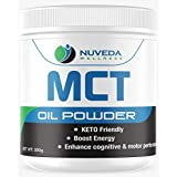 MCT Oil Powder with Prebiotic Acacia Fiber - Creamer for Coffee and Tea - Great for Smoothies - Perfect for Ketogenic Diet to Control Appetite, Boost Ketone Production and Clean Energy, Unflavored - 300g