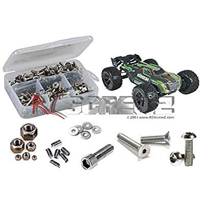 RCScrewZ Arrma Kraton BLX 1/8th Stainless Steel Screw Kit, Complete Replacement Set for RC Car Rusted and Stripped Screws, Race Quality Upgrade, Assembled in USA. arrm007 for Arrma kit AR106005: Toys & Games