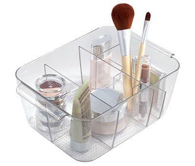 41zZ9yCcSsL - InterDesign Clarity Cosmetic Organizer Tote for Vanity Cabinet to Hold Makeup