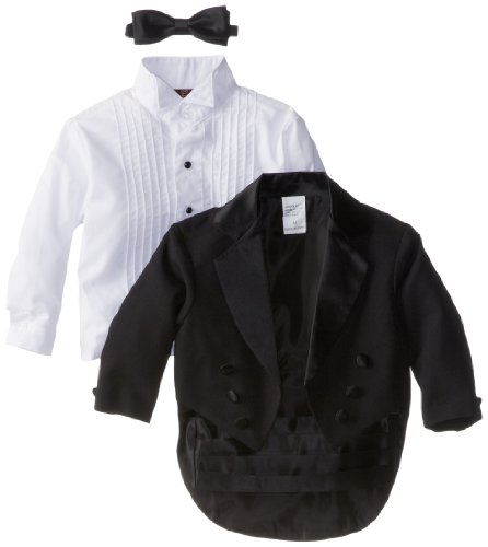 Joey Couture Baby Boys' Tuxedo Suit Tail, Black, 12 Months/Medium