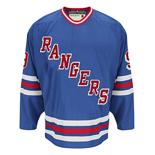 adidas NHL Wayne Gretzky York Rangers Heroes Hockey Authentic Vintage Jersey (50)