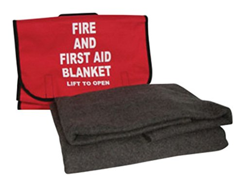 Honeywell 5560390CASE North by 62 X 80 Gray 90% Wool Lightweight Fire and First Aid Blanket with Red/Black Trimmed Cordura Bag, Plastic, 1