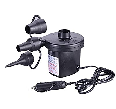 New Arrival 12V DC Car Electric Air Pump For Camping Airbed Boat Toy Inflator