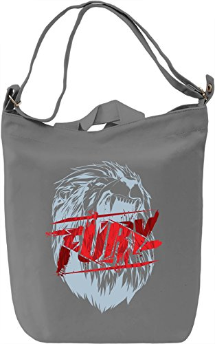Fury Borsa Giornaliera Canvas Canvas Day Bag| 100% Premium Cotton Canvas| DTG Printing|