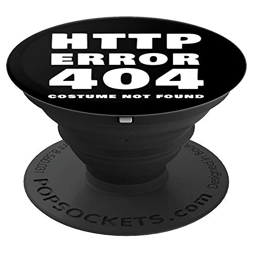 Funny website manager Error 404 Costume Not Found - PopSockets Grip and Stand for Phones and Tablets]()