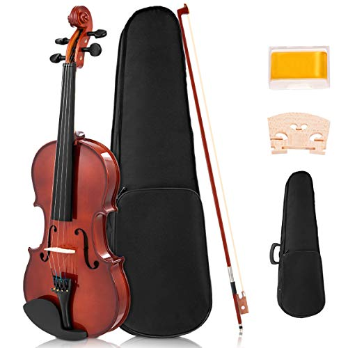 Sonart Full Size 4/4 Solid Wood Violin for Beginners
