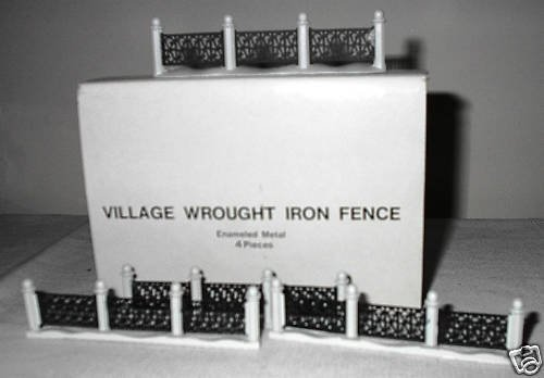 Department 56 Village Wrought Iron Fence 4 Pieces