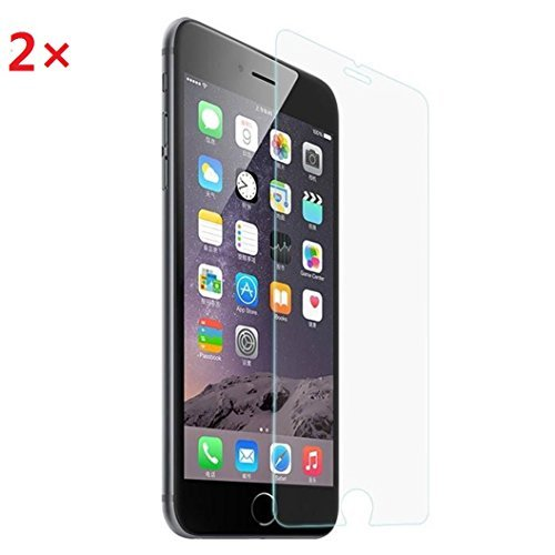 iPhone 6 Plus Screen Protector - Egrace Tempered Glass Screen Protector for iPhone 6 6s Plus - 0.26mm Thinness, 9H Hardness, Bubble Free (Temperclear) Pack of 2