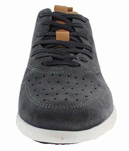 Coxx Zapatillas de Piel Para Hombre Gris Gris