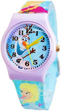 Disney Frozen Olaf First Time Teacher Wrist Watch For Children. Large Colorful Analog Display.