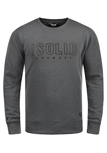 Sweat Encolure Grey solid Rond Pull 8236 Sweat En Kian Melange shirt Homme R00xtq