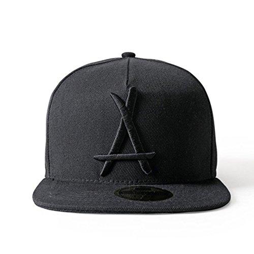 LEEYA N05 Hipster Tide brand Hip hop Snapback Hat Baseball cap unisex (black) (Hat Brands Clothing)
