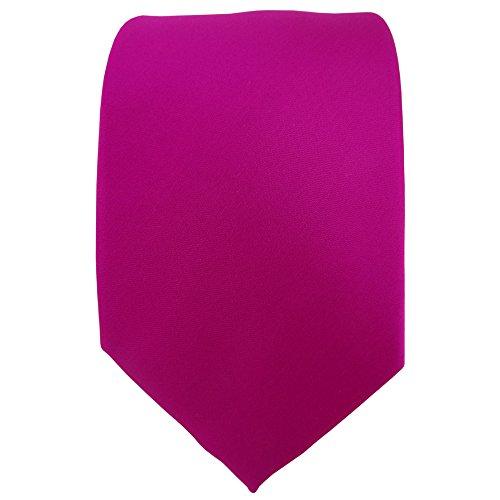 TigerTie Designer cravate en magenta unicolor Uni