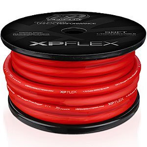 XS Power XPFLEX0RD-50 XP/XS Flex Iced Red 50' Spool High Current Battery Cable by XS Power