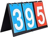 Scoreboard, Score Keeper Score Flipper 2/3/4 Digit Portable Flip Sports Scoreboard Score Counter for Table Ten