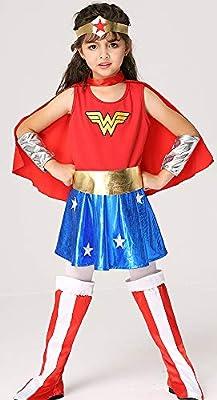 XYFW Ropa Infantil De Halloween Disfraz De Mujer Maravilla Cosplay ...