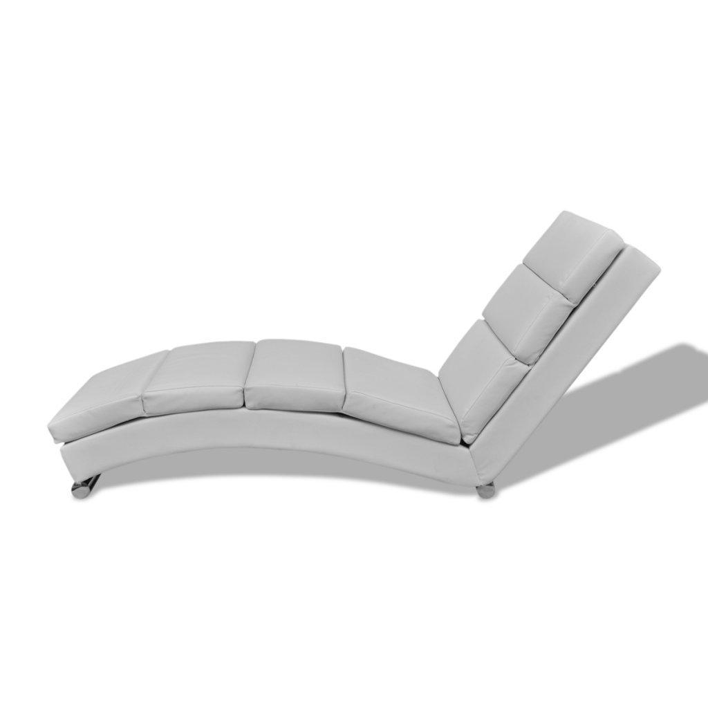 VidaXL Relaxliege Chaiselongue Liegesessel Lounge Liege Sessel Ruhesessel Weiss Amazonde Kche Haushalt