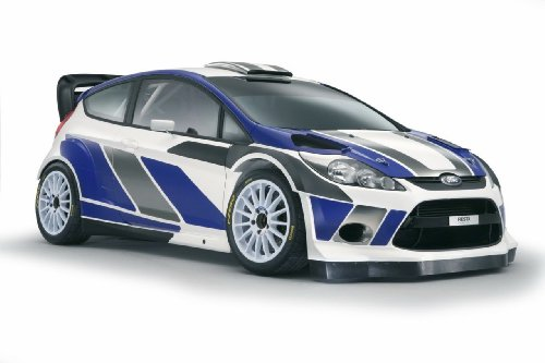 Ford Fiesta Rs Wrc Car Art Poster Print on 10 mil Archival Satin Paper