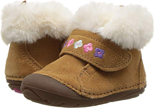 Stride Rite Girls Sophie Baby Adjustable Suede Boot Ankle, Brown, 5 M US Toddler