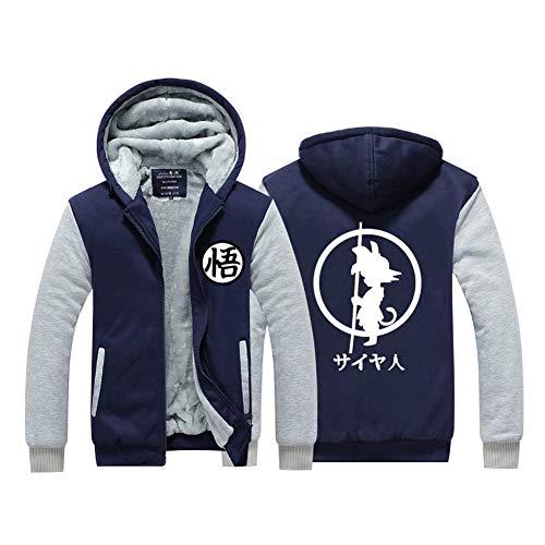 Dragon Ball Z Cosplay Costume Thicken Hoodie Fleece Jacket Velvet Sweatshirt Coat 3XL ()