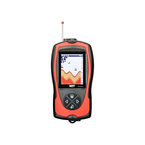 LUCKY FF1108 Wired & Wireless Sonar Fish Finder 100m/328ft Dual Frequency 45/90degrees 240V960H Fish Finders And Other Electronics LUCKY