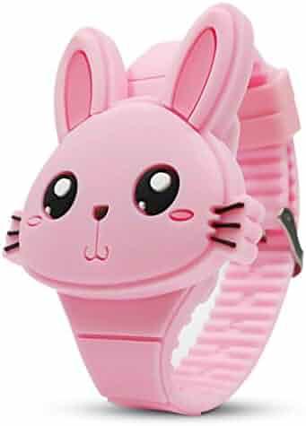 YSLON Kids Digital Watch,Cute Rabbit Shape,Girl Gifts.