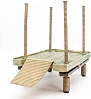 Penn-Plax Decorative Turtle Pier Floating/Basking Platform, Large