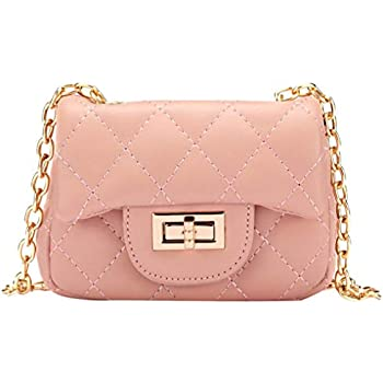 f6c631259b0c WODISON Trendy Kids Toddler Crossbody Quilted Purse Shoulder Bag Metal Chain  for Girls