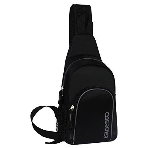 CyberDyer Sling Bag Chest Shoulder Unbalance Gym Fanny Backpack Sack Satchel Outdoor Bike (Gray)