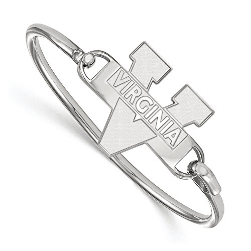 NCAA Sterling Silver University of Virginia Bangle, 8 inch by LogoArt