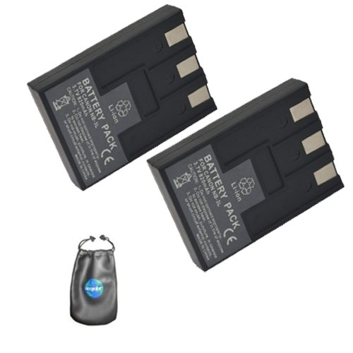 (ValuePack (2 Count): Digital Replacement Camera and Camcorder Battery for Canon NB-3L - Includes Lens Pouch)