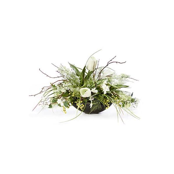 Petals Lilac, Dogwood & Tulip Silk Flower Centerpiece