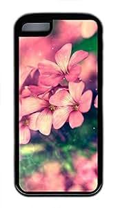 iPhone 5c case, Cute Beautiful Flower iPhone 5c Cover, iPhone 5c Cases, Soft Black iPhone 5c Covers