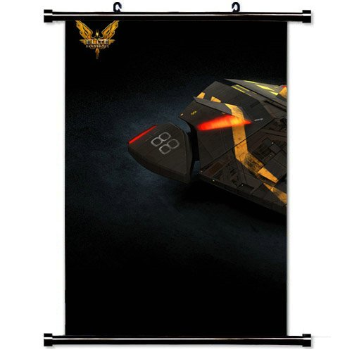 Wall Scroll Poster with Elite Dangerous Game Art Viper Mark Ship Emblem Home Decor Wall Posters Fabric Painting 23.6 X 35.4 Inch