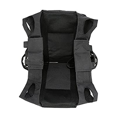 SUN FLOWER TOOLS Tactical CS Field Vest Outdoor Training Airsoft Protective Vest for Adults Adjustable Black
