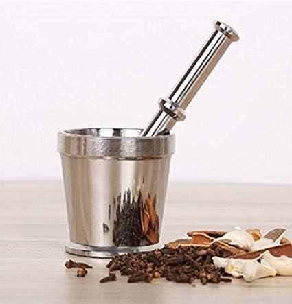 Shradha Trading Stainless Steel Khalbatta Khaldasta Spice Grinder Size#3 Mortar /& Pestle
