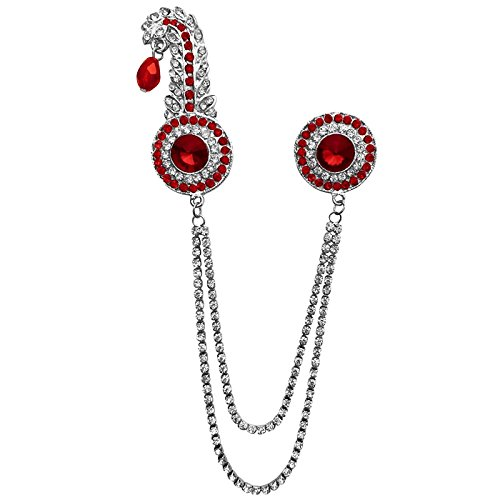 B-Fashionable Double Chain Round Kilangi Brooch (Double Brooch Pin)
