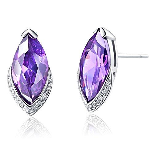 (Epinki, Women's Silver Plated Jewelry Fashion Stud Earrings Horse Eye Gems)