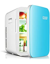 Mini Cool - 18 Liters Premiun Mini Fridge, 26 Cans, Glass finishing, Double Cooler