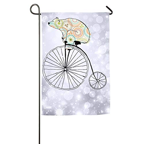 FOOOKL Bear Riding Home Family Party Flag 101 Hipster Welcom